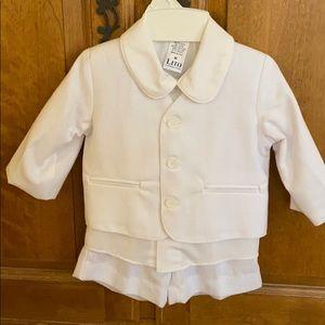 Adorable 3-piece Boys Infant Suit with Shorts